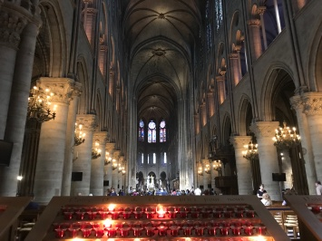 The inside of Notre Dame Cathedral