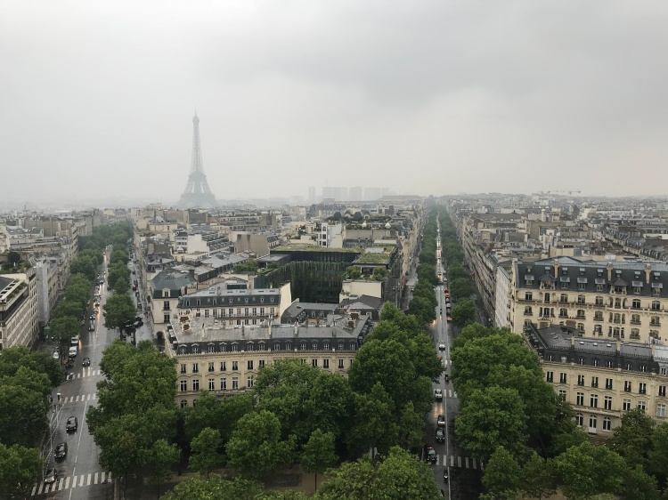 Views of the Paris Skyline from Arc de Triomph